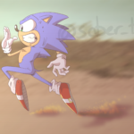 Sonic Making a Run For It